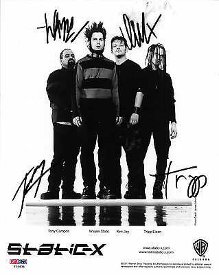 "STATIC-X BAND SIGNED 8""x10"" PUBLICITY PHOTO PSA/DNA Y06834"