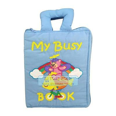 My Quiet Book Fabric Cloth My Busy Book Blue Learning Activity Toy Gift