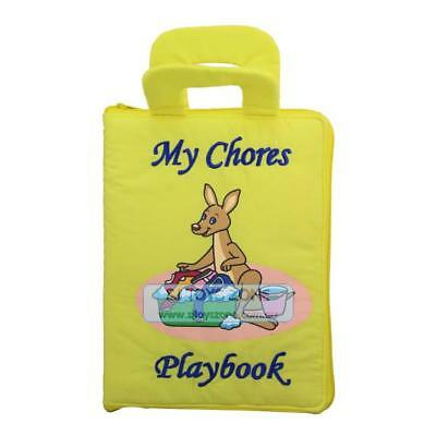 My Quiet Book Fabric Cloth My Chores Play Book Learning Activity Toy Gift