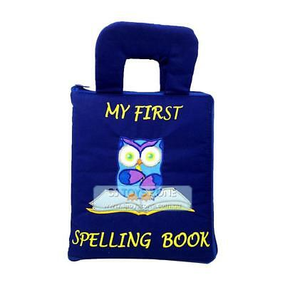 My Quiet Book Fabric Cloth My Quiet Book Blue Spelling Learning Activity Toy Gif