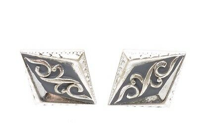Vintage Anson Sterling Silver Cufflinks Ornate Heavy Very Nice! Signed