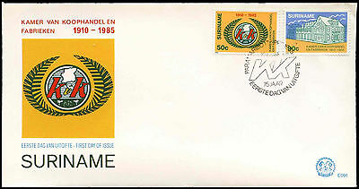 Suriname 1985 Chamber Of Commerce & Industry FDC First Day Cover #C30275