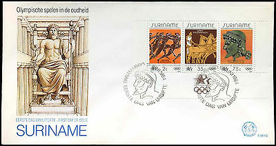 Suriname 1984 Olympic Games M/S FDC First Day Cover #C30263