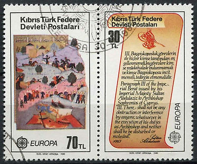 Cyprus Turkish Cyriot Posts 1982 Europa Cto Used Set From M/S #A96447