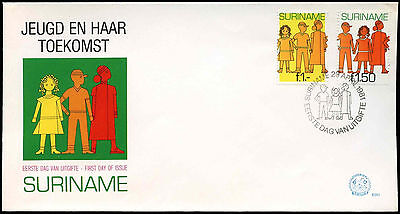 Suriname 1981 Youth And Its Future FDC First Day Cover #C30224