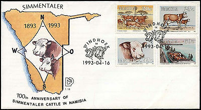 Namibia 1993 Simmentalalr Cattle FDC First Day Cover #C30008