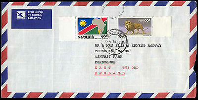 Namibia 1990 Air Mail Cover TO UK #C30072