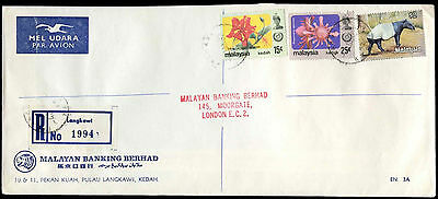 Malaysia 1983 Registered Cover To UK #C30081