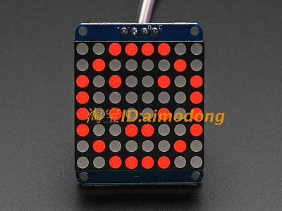 New 1.2' 8X8 Red Dot Matrix LED Display IIC for Arduino