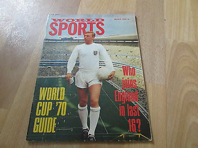 WORLD Sports Magazine WORLD CUP '70 Guide Cover March 69 / 1969