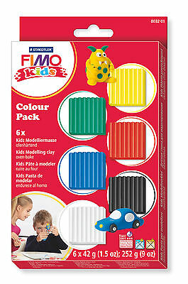 FIMO Kids Soft Polymer Clay Six Colour Basic Starter Set Fun Modelling Pack 201