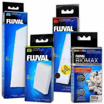 Fluval Filter U Media Foam & Carbon Pad & Biomax U2 U3 U4 Aquarium Fish Tank