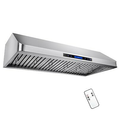 """48"""" Under Cabinet Stainless Steel Remote Control Kitchen Range Hood Touch Screen"""