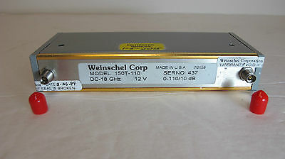 Weinschel 150T-110 Programmable Attenuator. DC to 18GHz,  0 to 110dB.  12VDC.