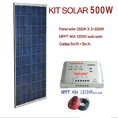 Kit solar 500w 24v panel fotovoltaico eur 465 00 for Kit solar fotovoltaico