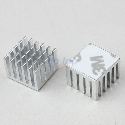 5pcs 20x20x15mm DIY CPU IC Chip Heat Sink Extruded Cooler Aluminum Heatsink
