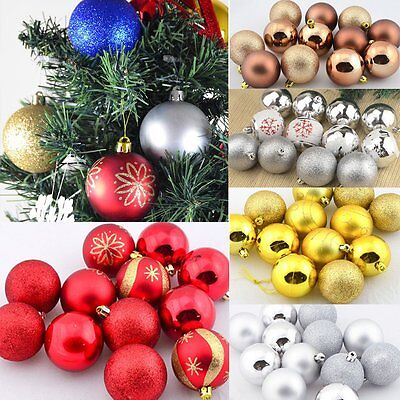 Christmas Tree Decor Round Xmas Balls Baubles Wedding Party Ornaments 12pcs 6cm