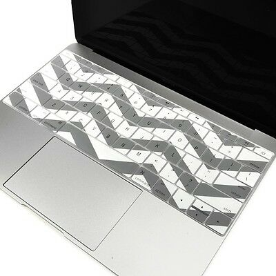 Gray Chevron Keyboard Cover Skin for New Macbook 12-Inch with Retina Model A1534