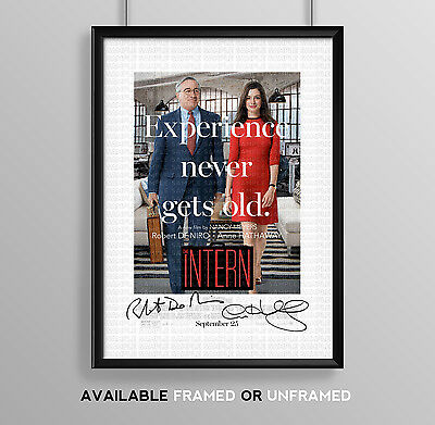 The Intern Cast Signed Autograph Print Poster Photo Movie Film Anne Hathaway