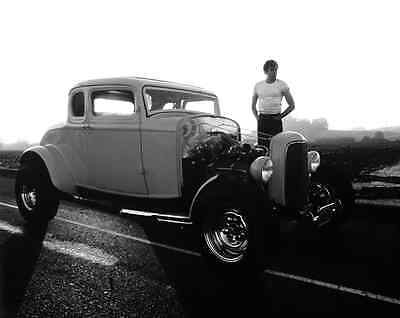 American Graffiti! Milners 32 Ford Coupe! ~ Very Nice B&w Photo 8 X 10! F1