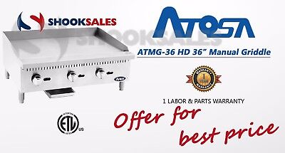 "ATOSA ATMG-36-LP 36"" Manual Griddle NEW PROPANE FREE FREIGHT"