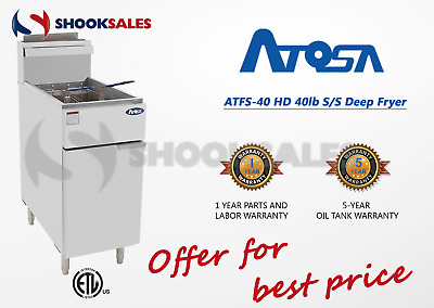 ATOSA ATFS-40-NG 40lb COMMERCIAL  FRYER NAT GAS FREE FREIGHT