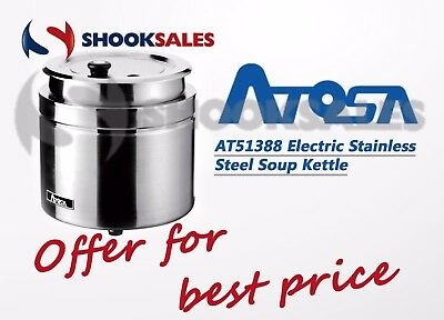 Atosa At51388 - Stainless Steel Electric Soup Kettle Free Shipping