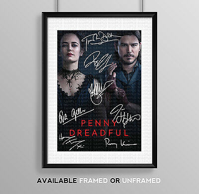 Penny Dreadful Cast Signed Autograph Print Poster Photo Tv Dvd Series Season