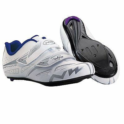 Northwave Eclipse Evo Womens Road Cycling SPD Clip In Shoes In White/Grey