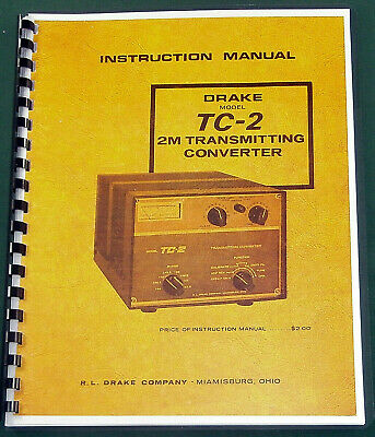Drake TC-2 Instruction Manual - Premium Card Stock & Protective Covers!