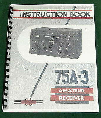 Collins 75A-3 Instruction Manual - Premium Card Stock & Protective Covers!