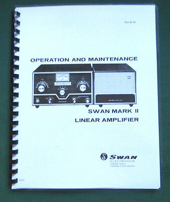 Swan Mark II Linear Amplifier Manual - ring bound & protective covers!