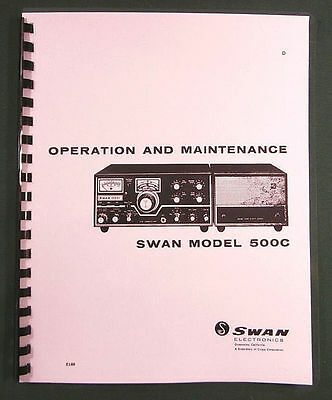 """w//11/""""X17/"""" Schematic /& Protective Covers! Swan MB-40 MB-40A MB-80 MB-80A Manual"""