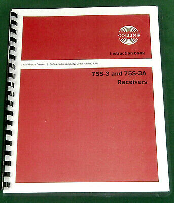 Collins 75S-3 Instruction manual - Premium Card Stock & Protective Covers!
