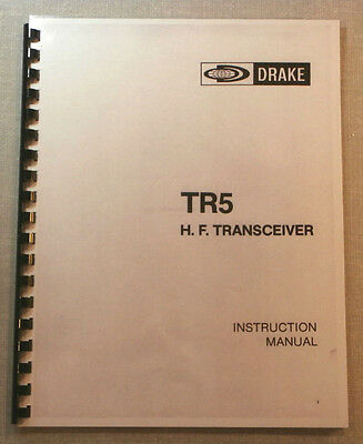 Drake TR-5 Instruction Manual - Premium Card Stock & Protective Covers!