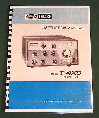 "Drake T-4XC Owners Manual: 11"" x 17"" Foldout Schematic & Protective Covers!"
