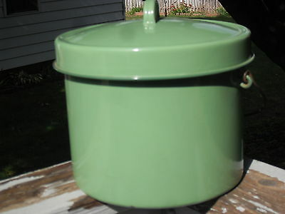 """Large Enamel Pot with Lid,  8"""" X 10 1/4""""  very good condition"""