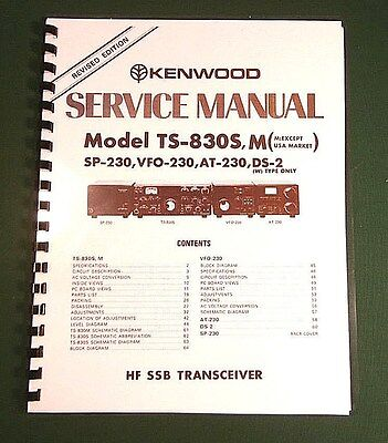 "Kenwood TS-830S Service Manual: 11"" X 17"" Foldout Schematics & Plastic Covers!"