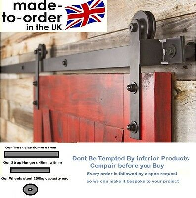 Sliding Barn Door System Hardware to suit wood door Made in UK