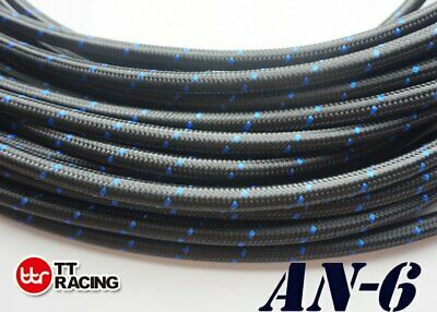"3/8"" Nylon Stainless Steel Braided -6An An6 6-An Oil Fuel Line Hose 20Ft"