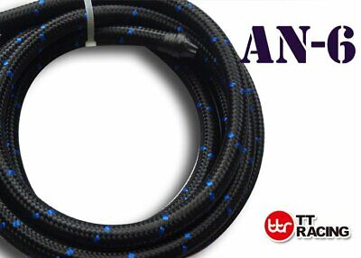 """3/8"""" Nylon Stainless Steel Braided 1000 Psi -6An An6 6-An Oil Fuel Line Hose 1M"""