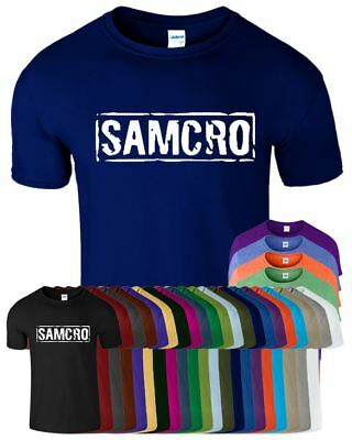 Samcro Mens Top Tee Present Casual Wear Funny Stylish anarchy Design T Shirt