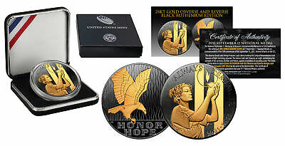 2011 SEPTEMBER 11 NATIONAL MEDAL 1oz Silver Proof Coin RUTHENIUM Golden Enigma