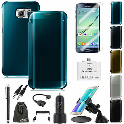 EEEKit Mirror Cover Case+Screen Protector+OTG Cable for Samsung Galaxy S7 edge