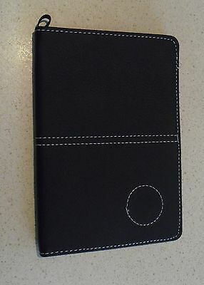1 only GOLF DELUXE ( Team logo & Pencil) SCORECARD HOLDER BLK (SYN)  LEATHER