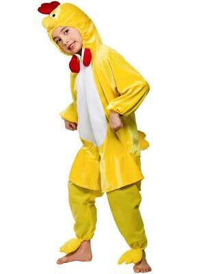 Child Chicken Fancy Dress Costume Book Week Farm Bird Kids Boys Girls Unisex BN