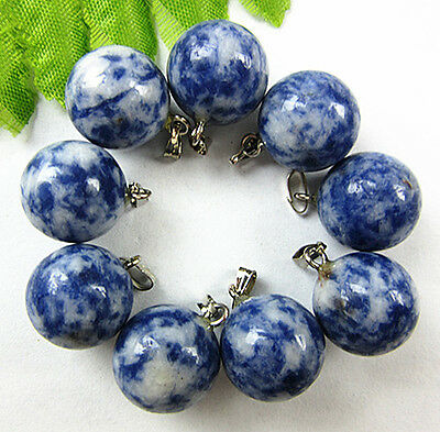 9PCS Beautiful unique blue and white porcelain ball pendant bead Vk176