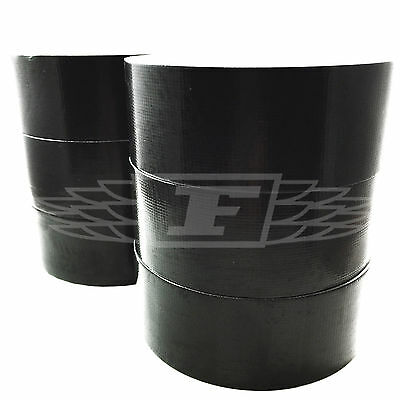 6 ROLLS OF 50m x 48mm BLACK GAFFER TAPE CLOTH DUCK DUCT TAPES GAFFA WATERPROOF
