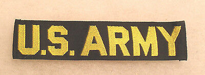 "The Elvis Era/korean War/ Early Vietnam ""us Army"" Tape Yellow. Woven On Black"