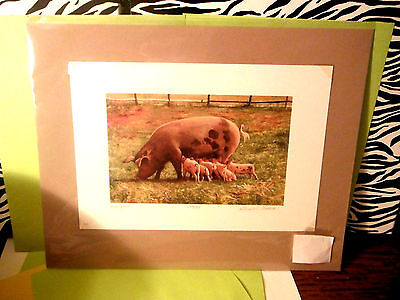 """Gerald L. Lubeck Ltd. Edition Signed/Numbered By Artist """"Banquet"""" Print W/ Mat!"""